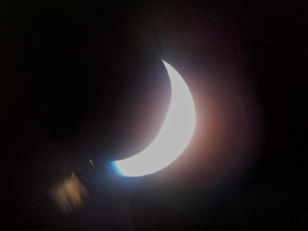 Cell phone shot through the solar telescope.